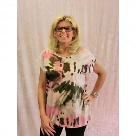 T-Shirt Rundhals ohne Arm Druck schilf mukticolor