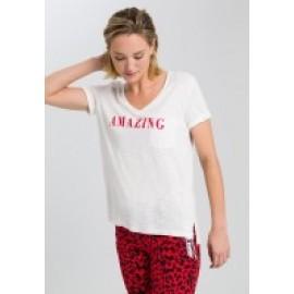Shirt off white varied